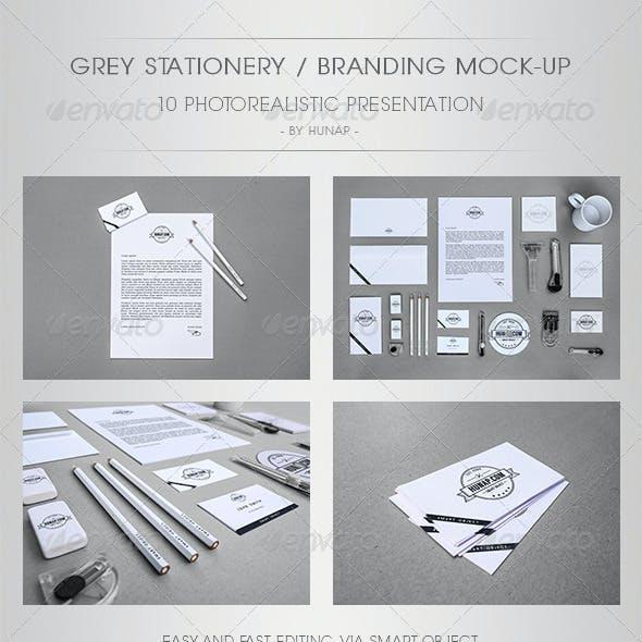 Grey Stationery/Branding Mock-Up