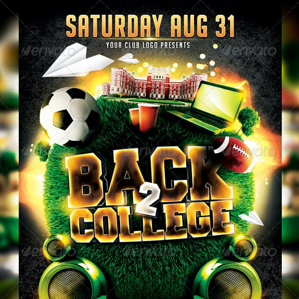 Back to College Flyer Template