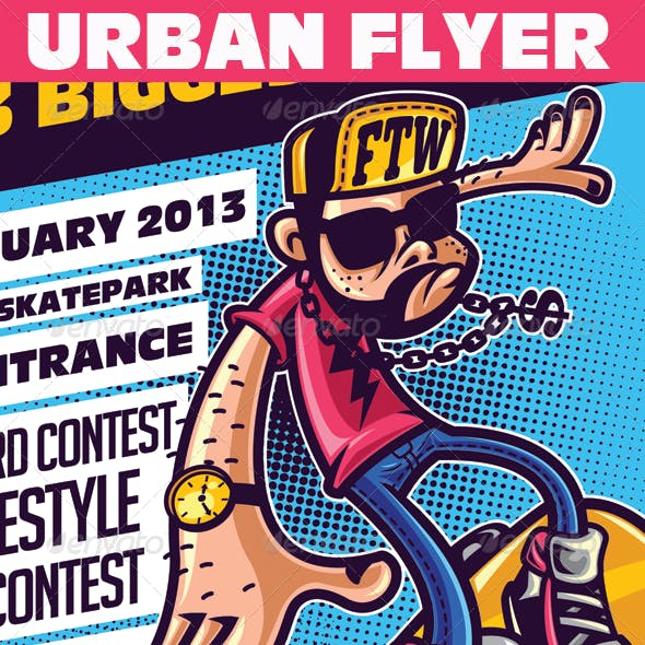Skate Day Urban Event Flyer