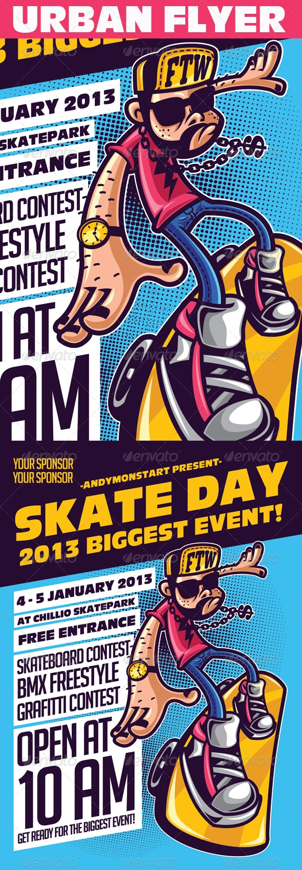 Skate Day Urban Event Flyer - Events Flyers