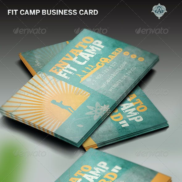 Fitness Camp Business Card Template