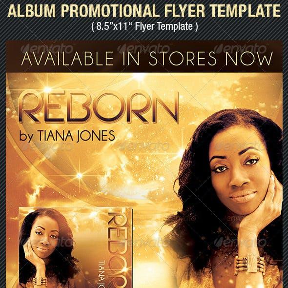 Album Release Promotional Flyer Template