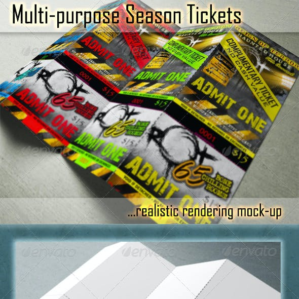 Season Ticket Mockups