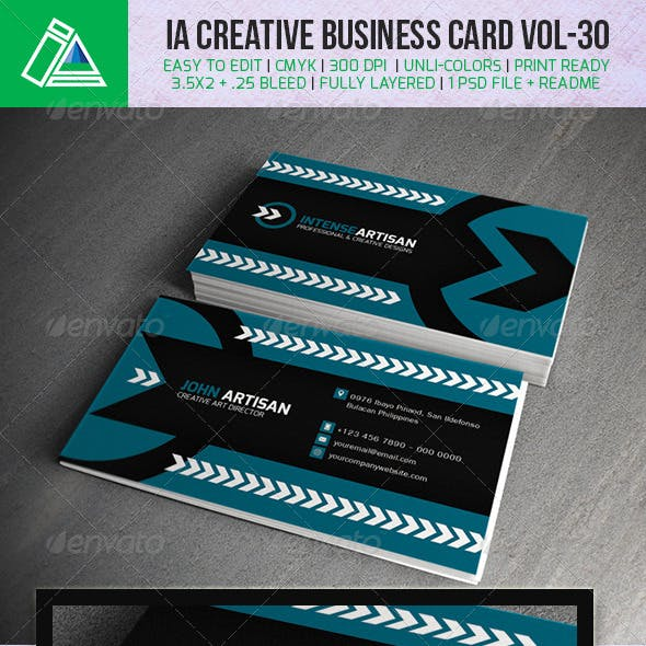IntenseArtisan Business Card Vol.30