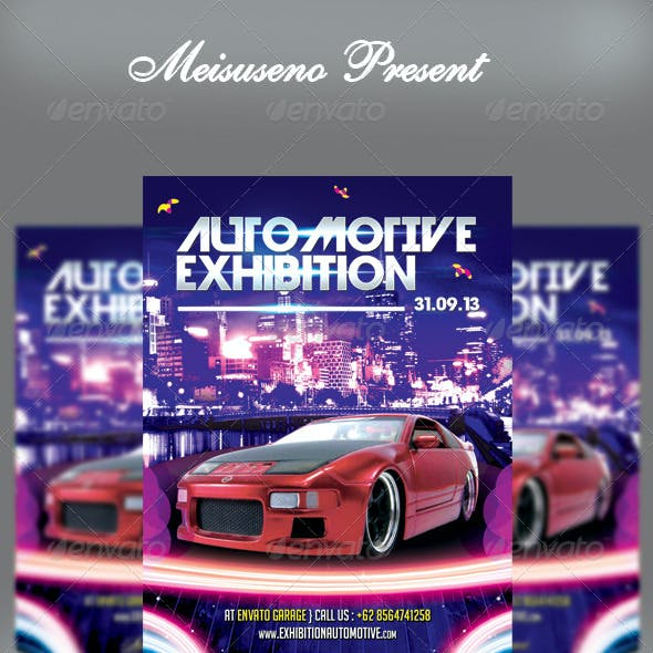 Automotive Exhibition Flyer Template