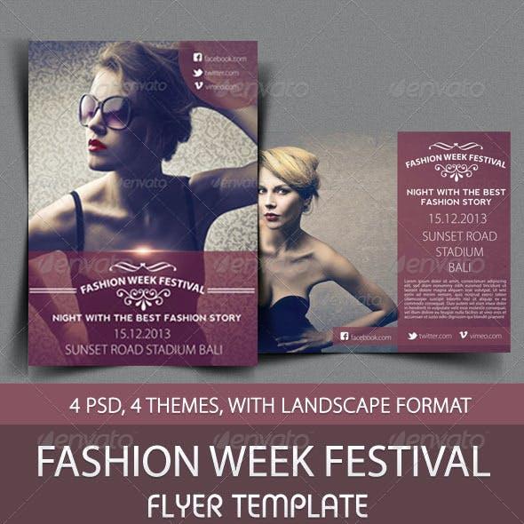 Fashion Week Festival Flyer