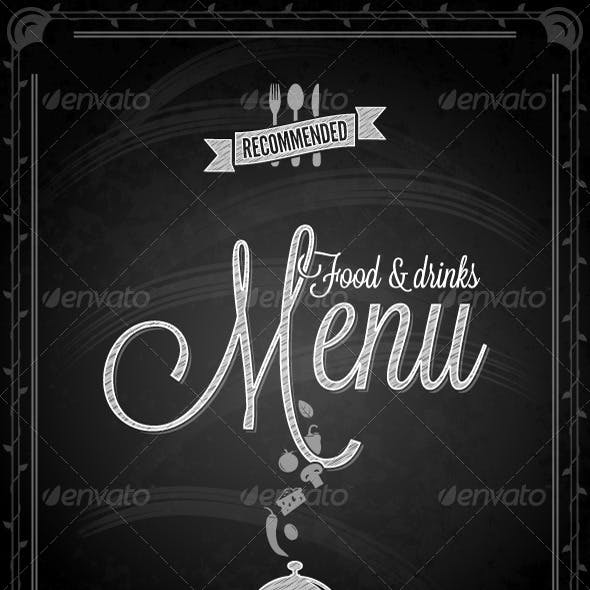 Chalkboard - Frame Food Menu