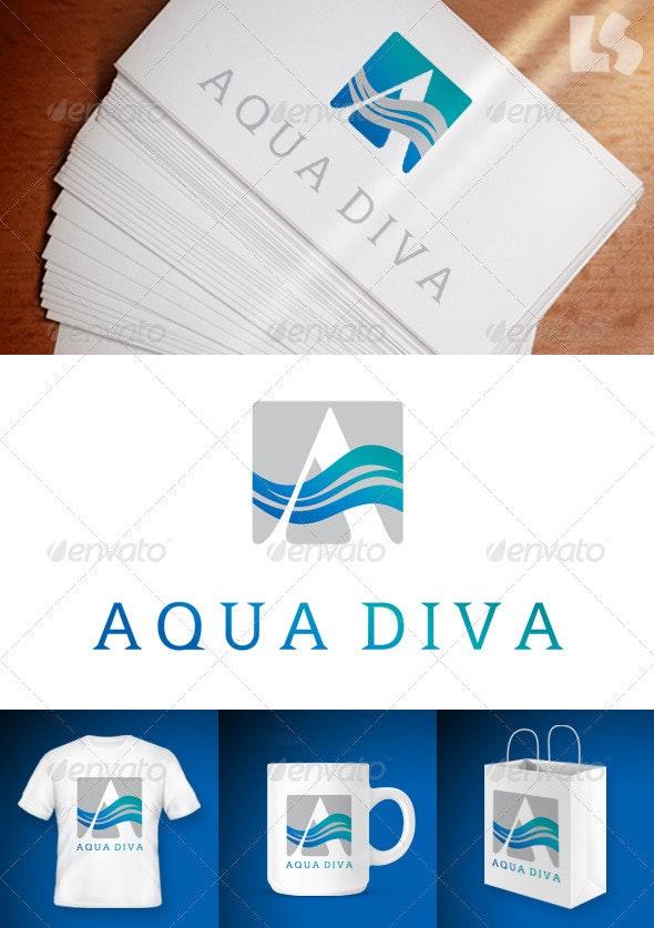 A AquaDiva Logo - Letters Logo Templates