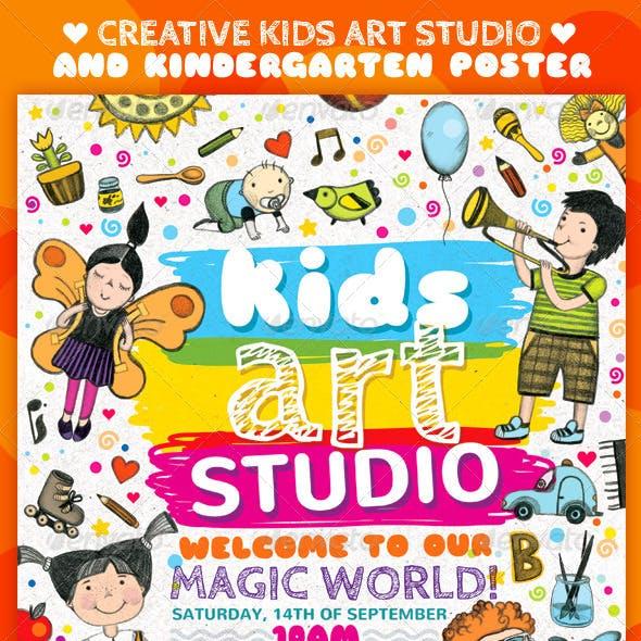 Creative Kids Art Studio and Kindergarten Poster