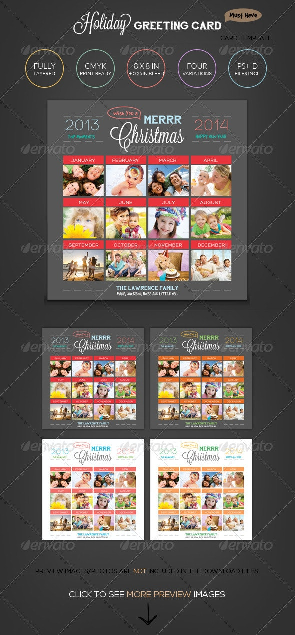 Top Moments - Holiday Greeting Photo Collage Card - Holiday Greeting Cards