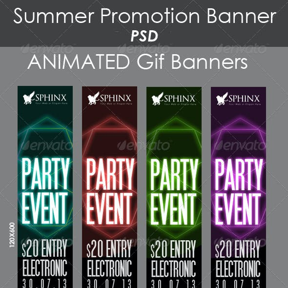Party Promotion Banners