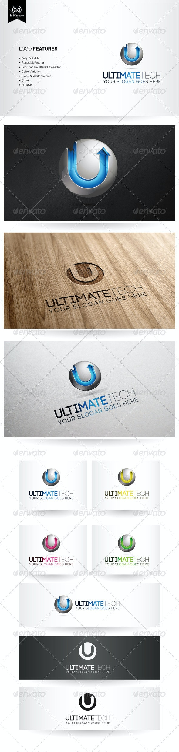 U Tech 3D Logo  - 3d Abstract