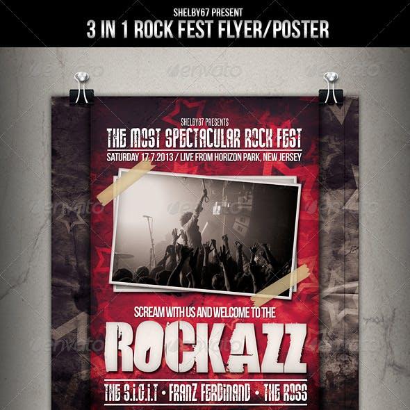 Rock Fest Flyer Poster