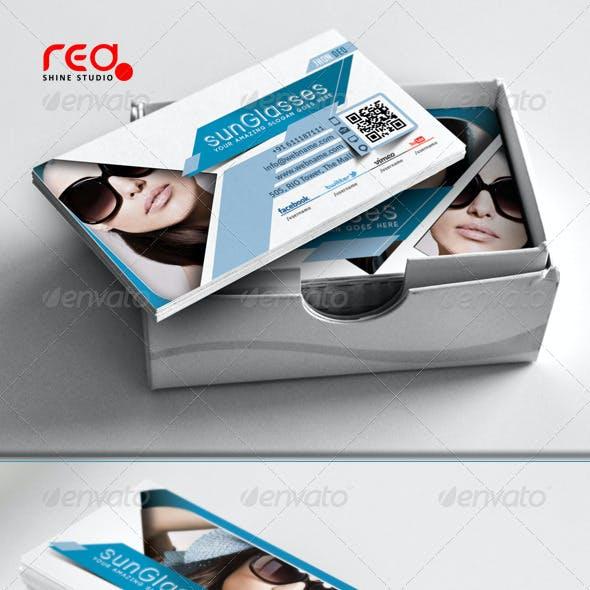SunGlasses Fashion Store Business Card Set