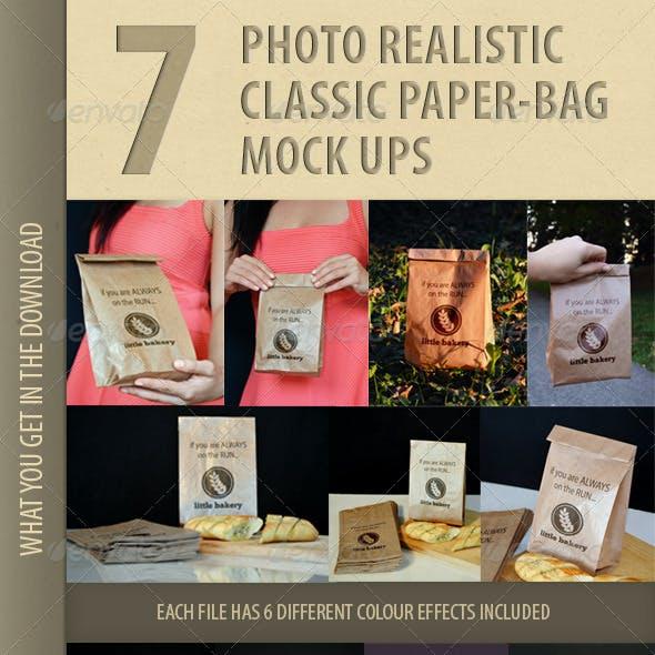 7 photo-realistic paper bag mock-ups