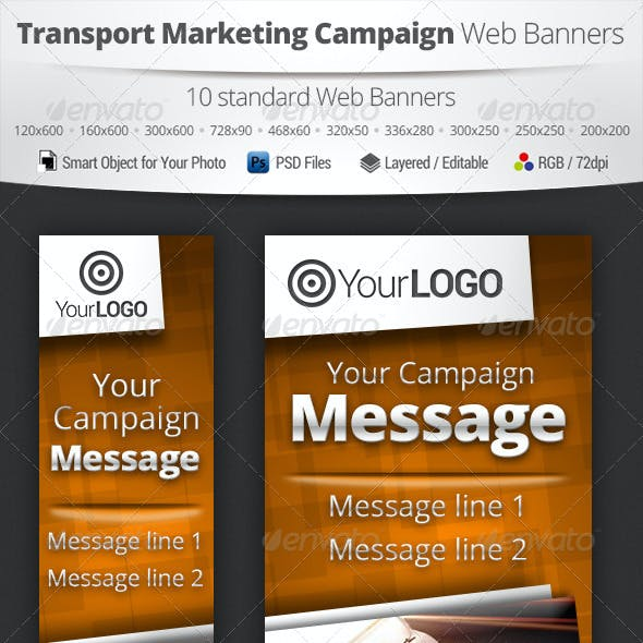 Transport Marketing Campaign Web Banners