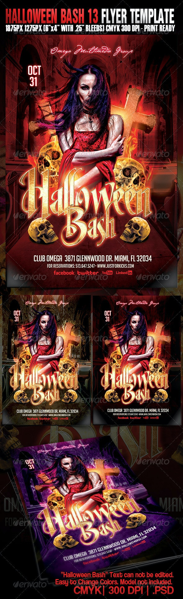 Halloween Bash 13 - Events Flyers