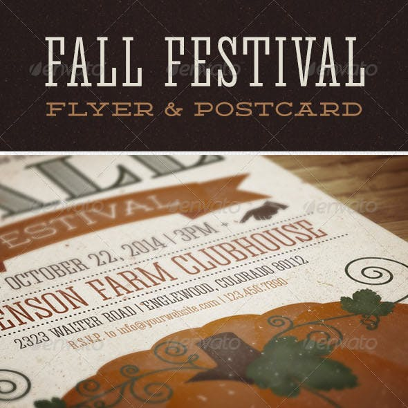 Fall Festival Flyer & Postcard