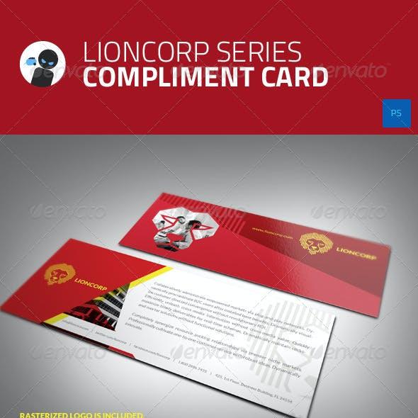 Lioncorp Series - Compliment Card