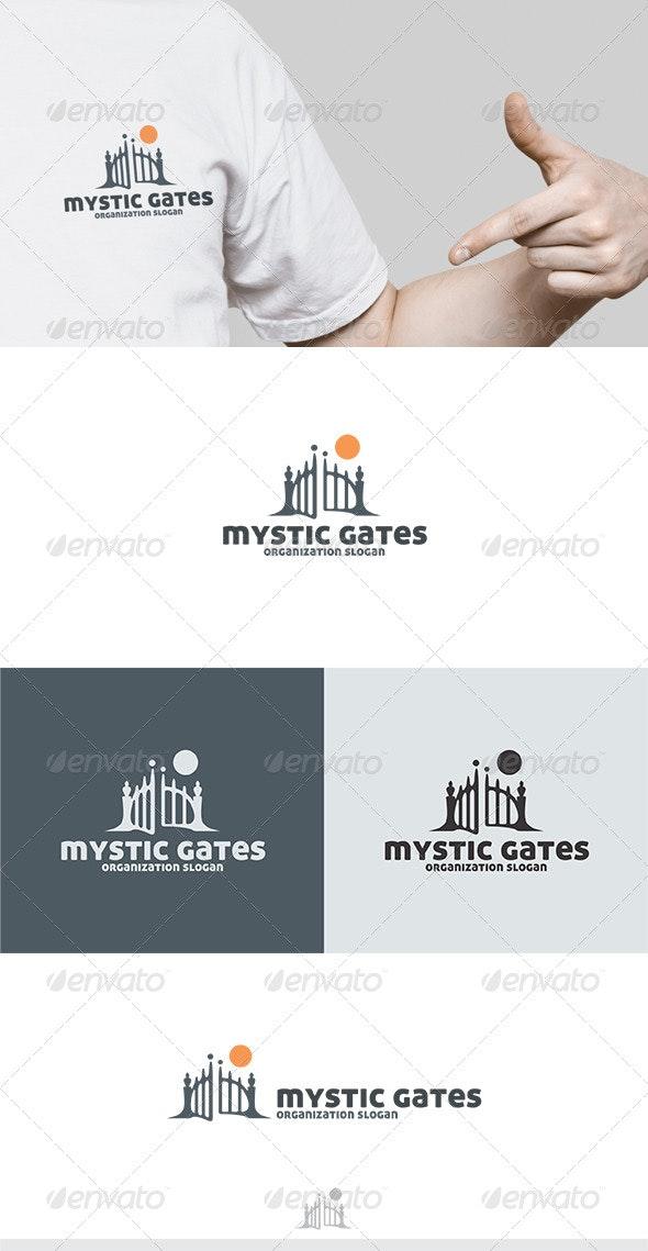 Mystic Gates Logo - Objects Logo Templates