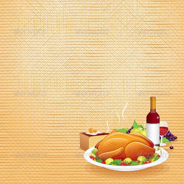 Thanksgiving Dinner - Seasons/Holidays Conceptual
