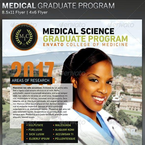 Medical Graduate Program: Flyer Template