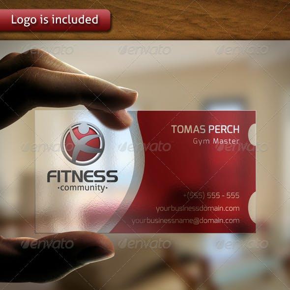 Compre sua arte para Cartão de Visita Logotipo da aptidão personalizado