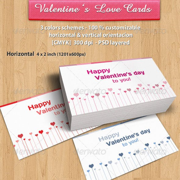 Valentines day love heart Card