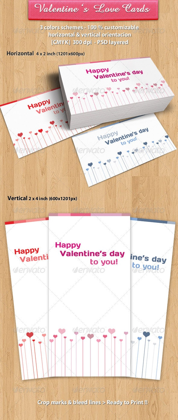 Valentines day love heart Card - Creative Business Cards
