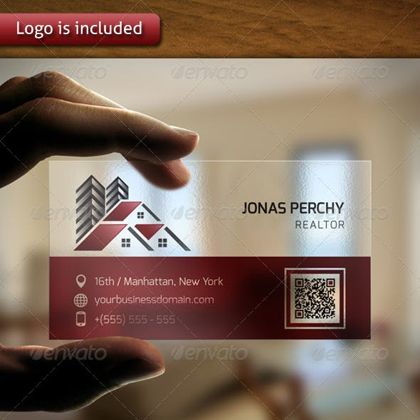 Professional Real Estate Logo Business Card