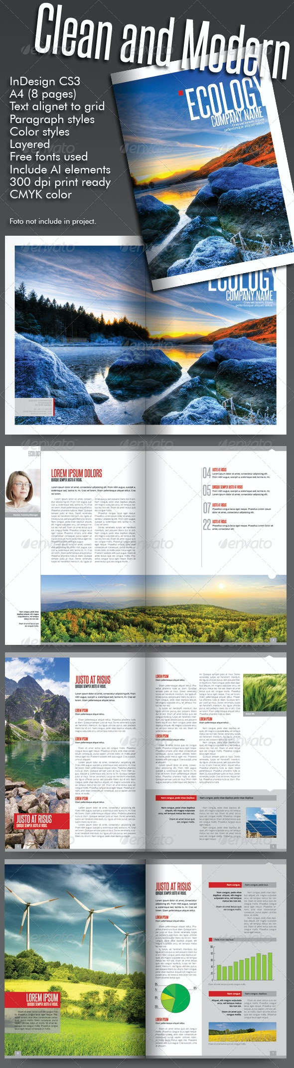 Clean and Modern Catalog (8 pages) - Brochures Print Templates