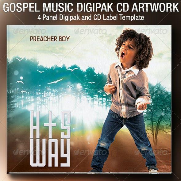 Gospel Music 4 Panel Digipak CD Artwork Template