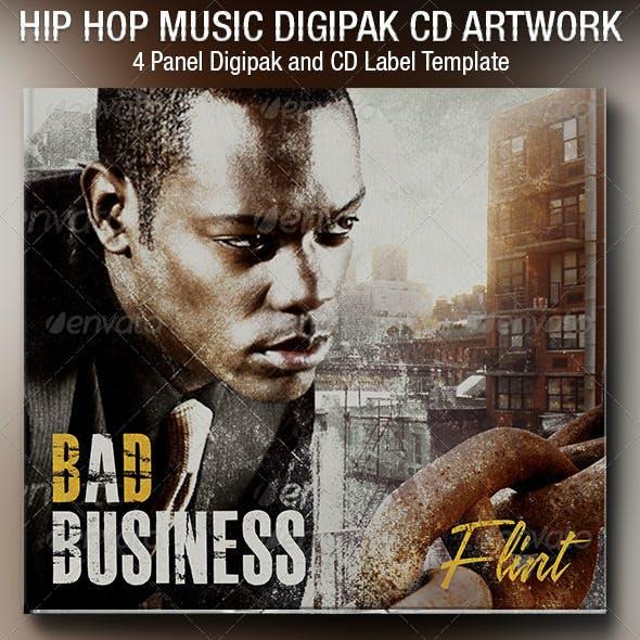 Hip Hop 4 Panel Digipak CD Artwork Template