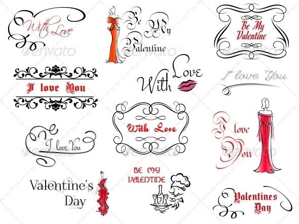 Valentine's Day Design Elements - Valentines Seasons/Holidays