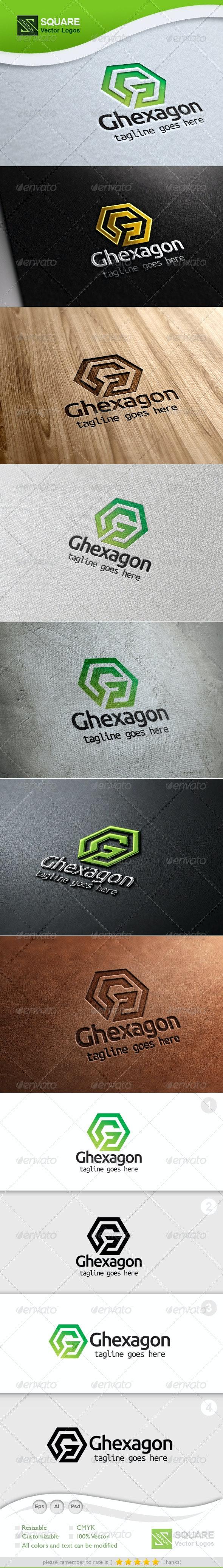 G, Hexagon Vector Logo Template
