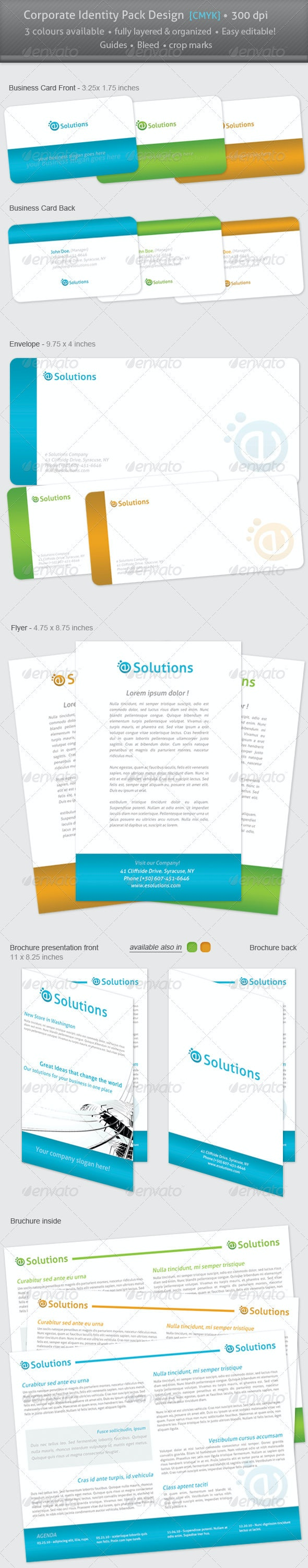 Corporate colorful identity pack - Stationery Print Templates