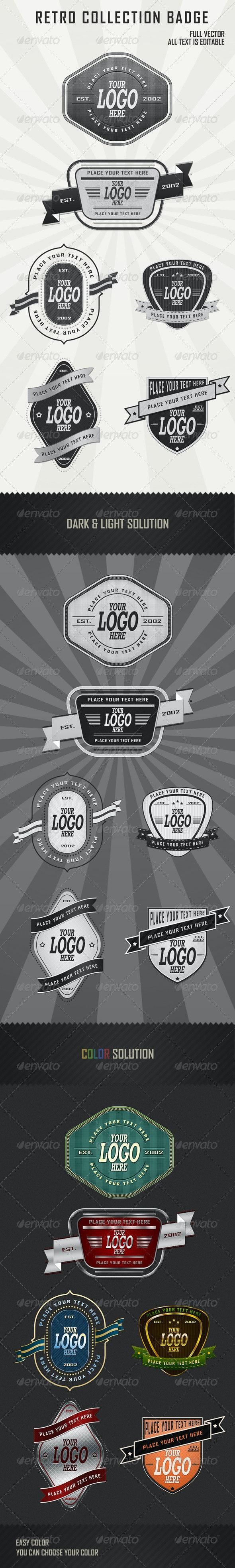 Retro Badges Collection vol2 - Badges & Stickers Web Elements