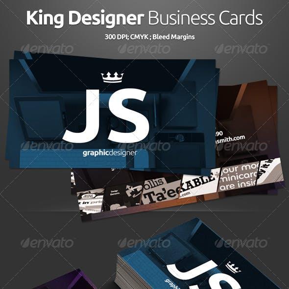 King Designer Business Cards