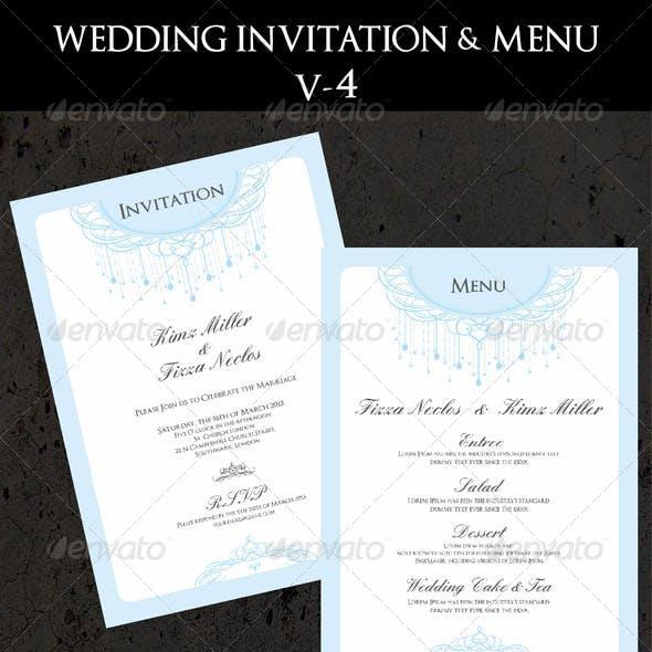 Wedding Invitation & Menu Cards V-4