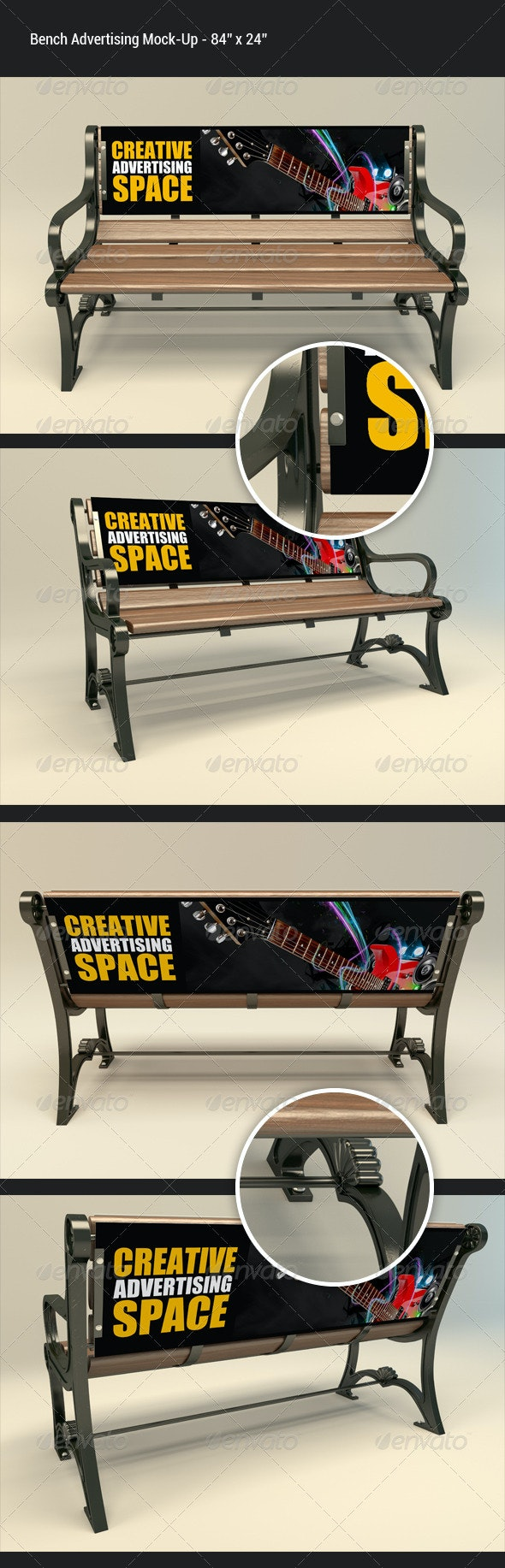Bench Advertising Mock-Up - Miscellaneous Print