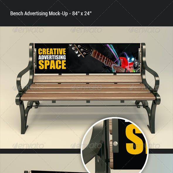 Bench Advertising Mock-Up