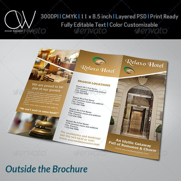 Hotel and Motel Tri-Fold Brochure Template