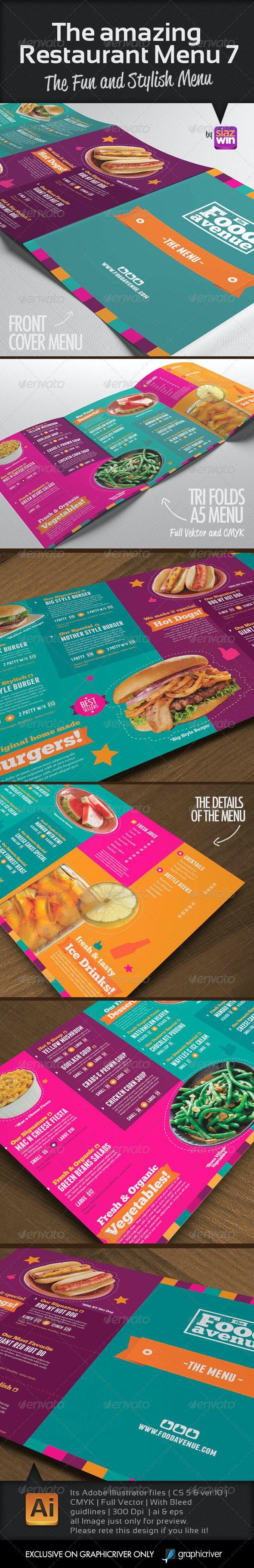 The Restaurant Menu 7 - Food Menus Print Templates