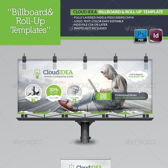 Cloud Idea Billboard & Roll-Up Template