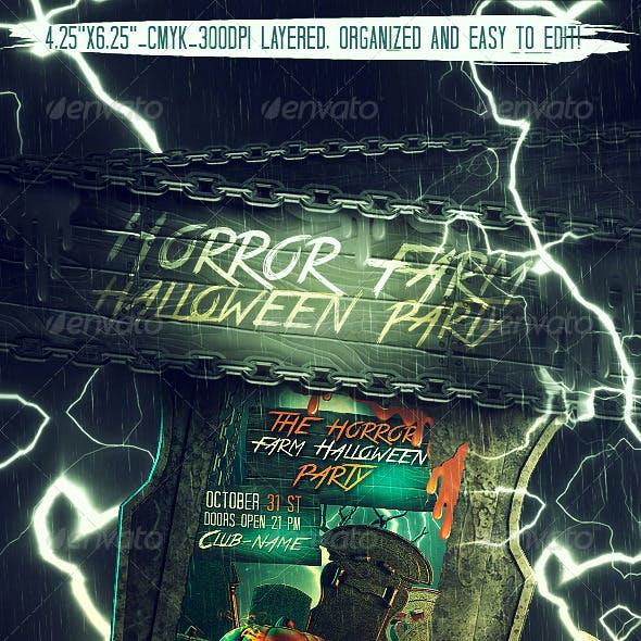 Horror Farm Halloween Party Flyer
