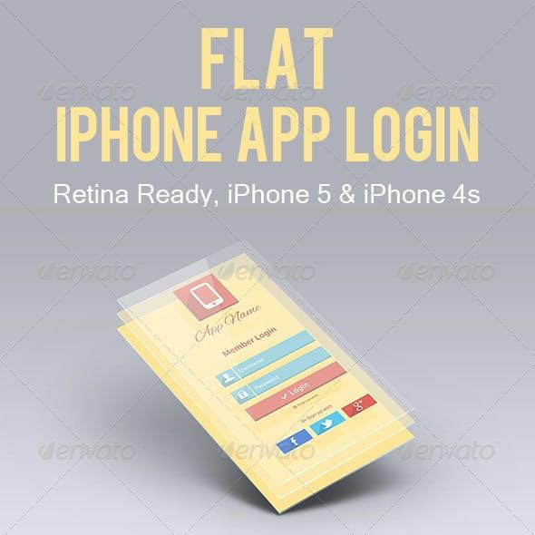 Flat iPhone App Login