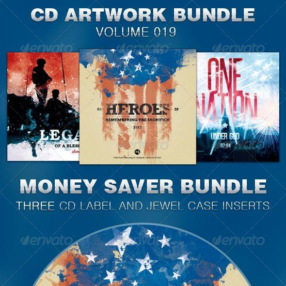 CD Cover Artwork Template Bundle-Vol 019