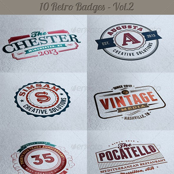 10 Retro Signs or Badges v.2