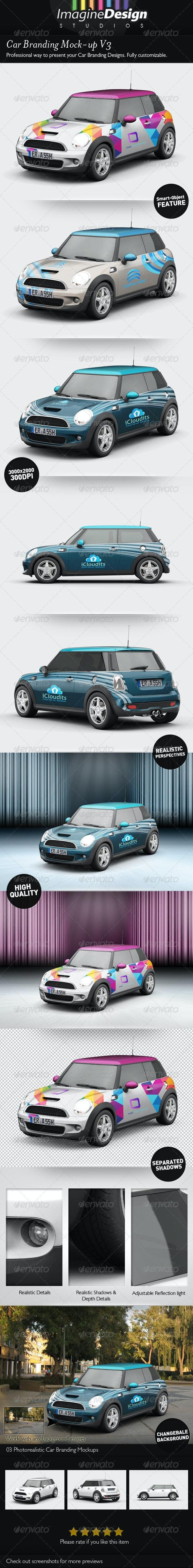 Car Branding Mock-up V3 - Vehicle Wraps Print