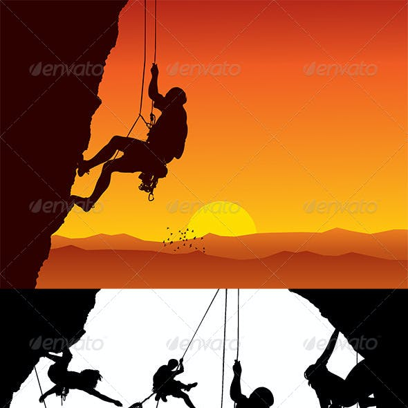 Vector Climber Silhouettes